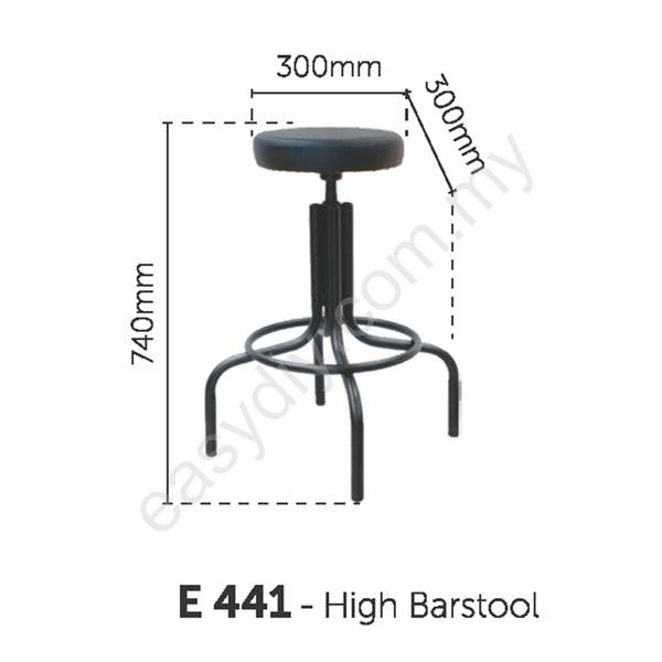 Fabric Typist Chair | High Production Barstool - E 441