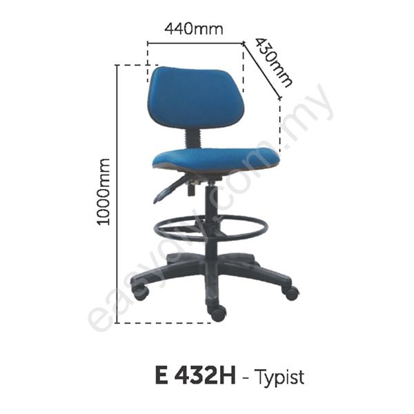 Fabric Typist Chair | Office Typist Chair - E 432H