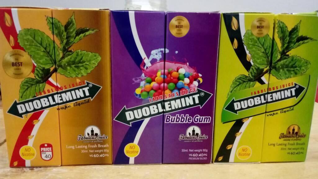 Fabulous juice - Duoblemint - 0mg Nicotine Free E-juice 30ml, Vape