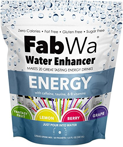 Fabwa Energy Water 20 Piece Variety Pack Enhancer