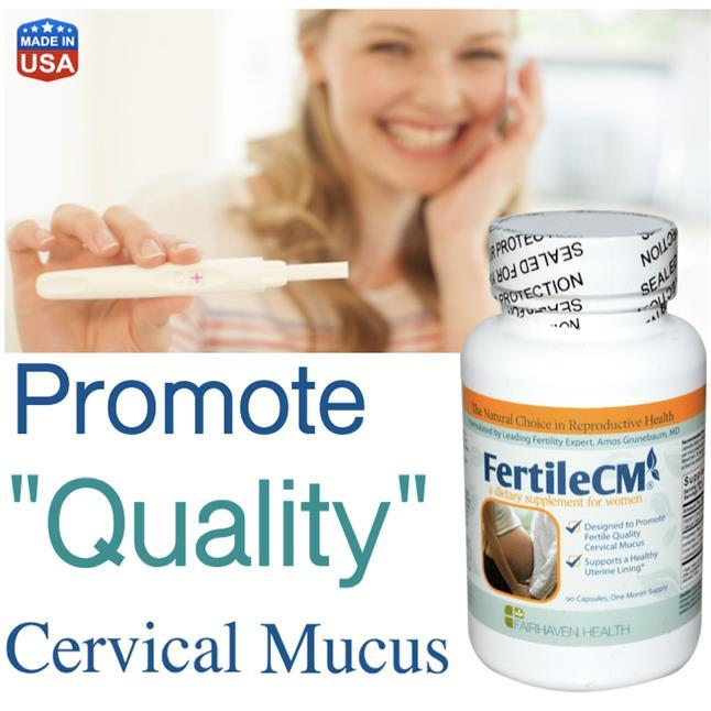 Fairhaven FertileCM Cervical Mucus (Pregnant, Hamil, Vitex) Fertilaid