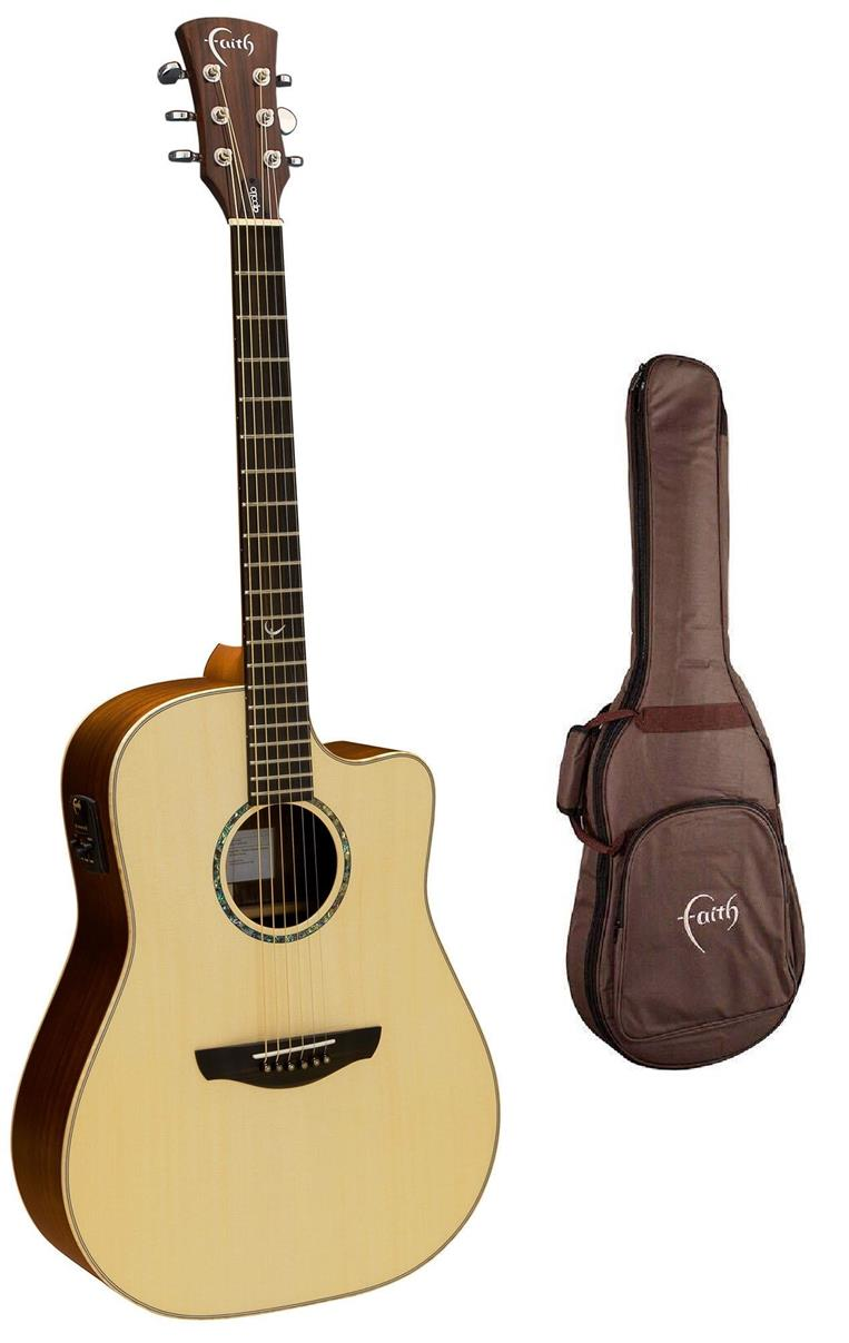 FAITH SATURN C/WAY ELECTRO GLOSS ACOUSTIC GUITAR WITH FREE BAG (FASCE)