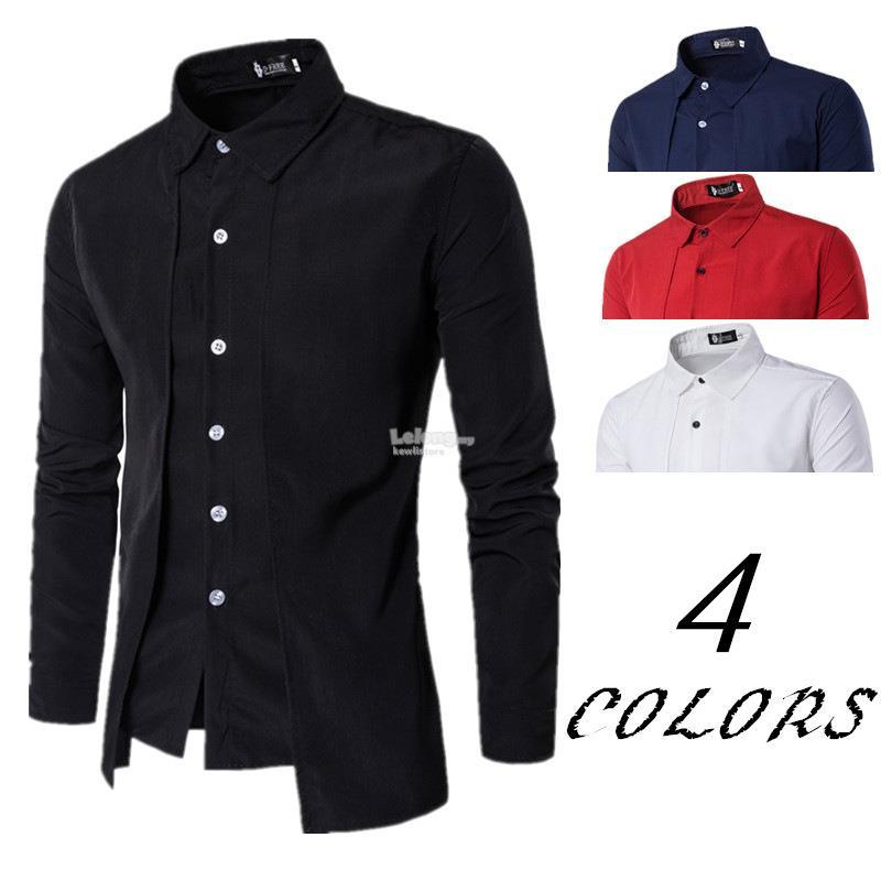 fcb44fab72539 Fake two-piece trend casual fashion long-sleeved shirt