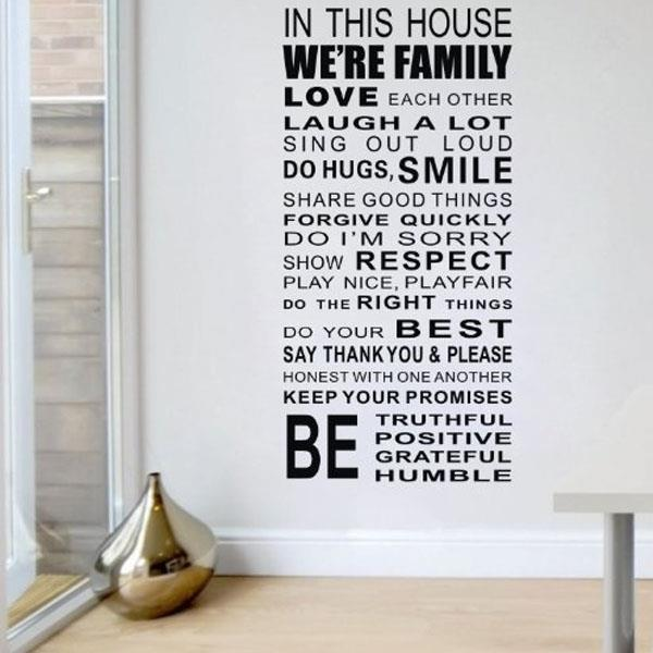 family house rules quote black wall (end 8/23/2020 11:57 pm)