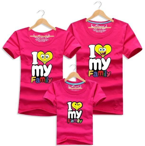 a2735abdd Family T Shirt Set Man + Woman ( I Love My Family Couple / Kids Boy. ‹ ›