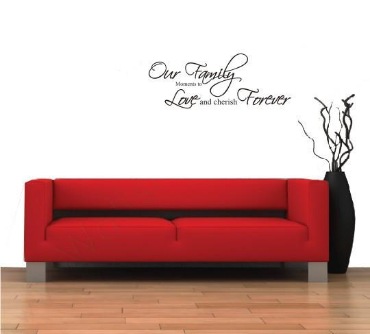 Our Family..Wall Sticker Quotes And Saying Decals Wallpaper Home Deco