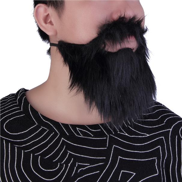 Fancy Dress Mustache & Fake Beard Facial Hair Party Costume Dress Up H