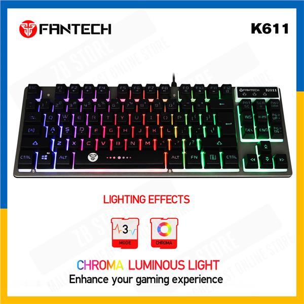 a77597d52d6 Fantech Fighter K611 USB LED Lighting Metal USB Gaming Keyboard. ‹ ›