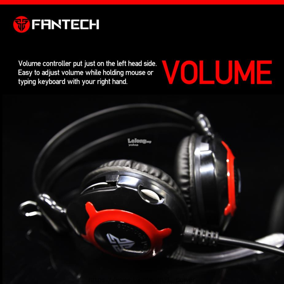 FANTECH Gaming Headphone With Micophone Volume Control (HG2/ER140)
