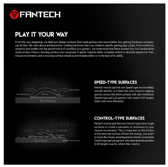 Fantech Gaming MousePad Anti-Slip Mouse Mat