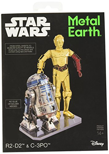 Fascinations Metal Earth Star Wars R2-D2 and C-3PO 3D Metal Model Kit Box Set