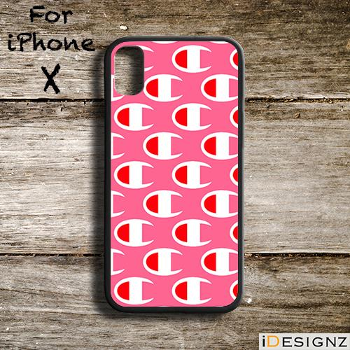 e6e9f8c223c07 Fashion Champion Pink Logo Case Cover for iPhone X 8 8+ 7 7+ 6. ‹ ›