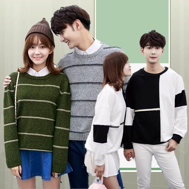 {Fashion Clickers} Couple Sweaters 12 Designs (S to 3XL) 0121