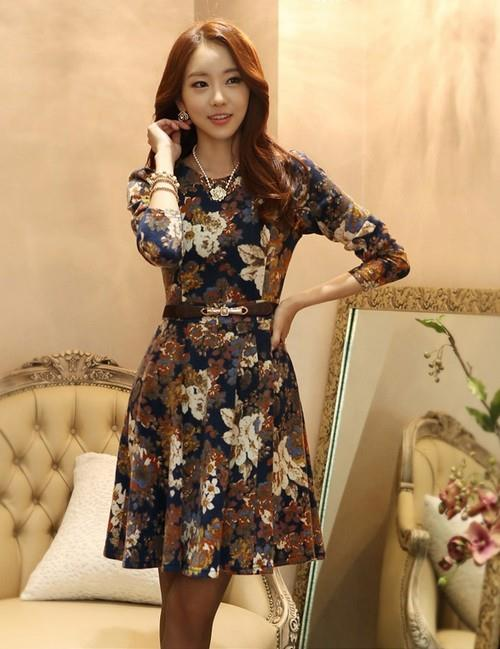 {Fashion Clickers} Korean Style Floral Dress