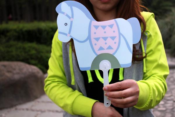 Fashion Hand Fan with horse design