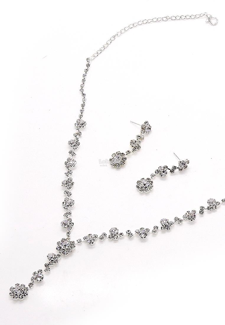 Fashion Jewelry Accessories Bridal Necklace & Earrings Set