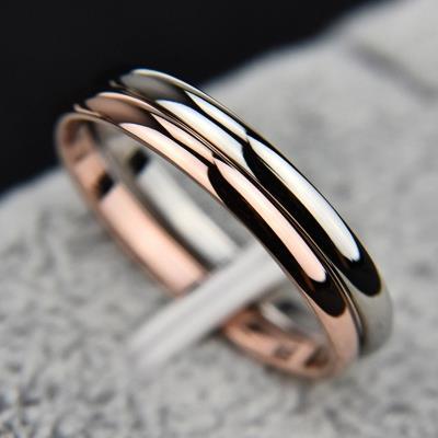 aa890575e6c Fashion Jewelry Smooth Polishing Couple Rings Women Men Unisex Ring