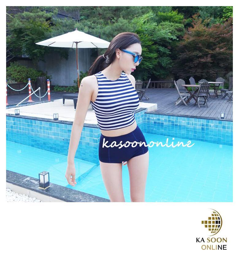 b917e24ed2 Fashion Korean Style Blue White Bikin (end 5 6 2017 5 55 PM)