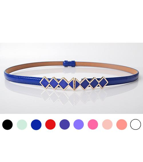 Fashion Rhombus Adjustable Thin Belt