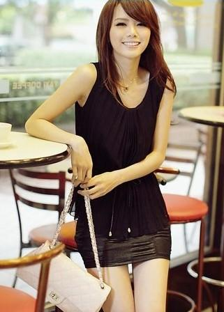 Fashion Show Slim Blouse-Black 12312