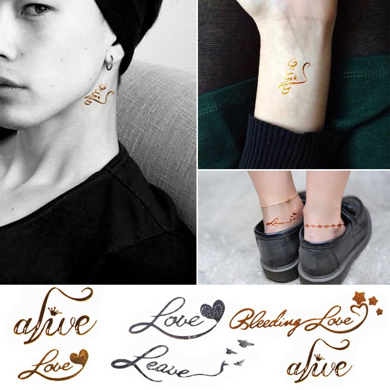 Fashion Waterproof Metal Tattoo Stickers HC-5023