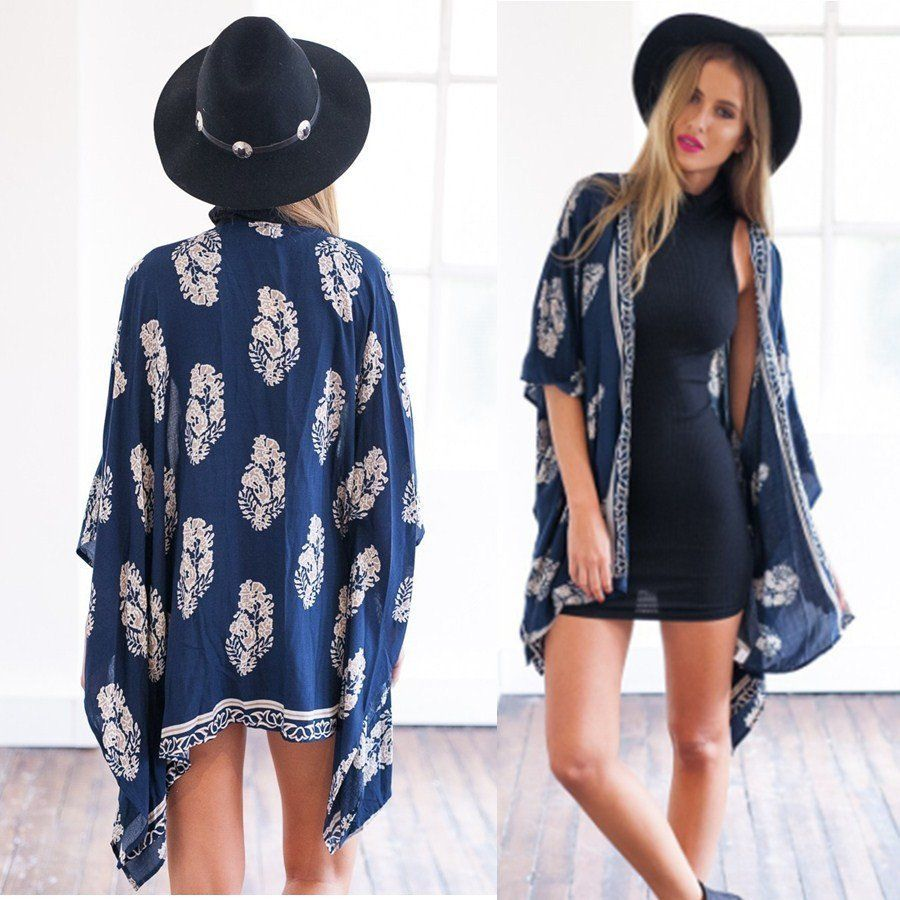 Fashion Women Boho Fringe Kimono Car (end 3/24/2017 1:19 PM)