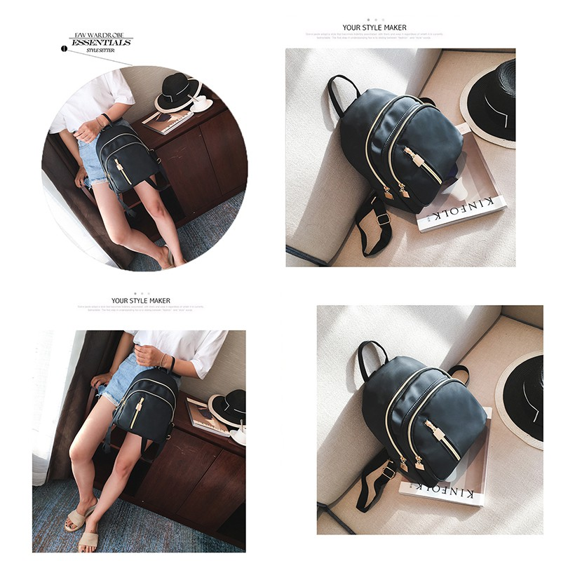 Fashion Women Mini Canvas Backpack Korean Style Girls Bags