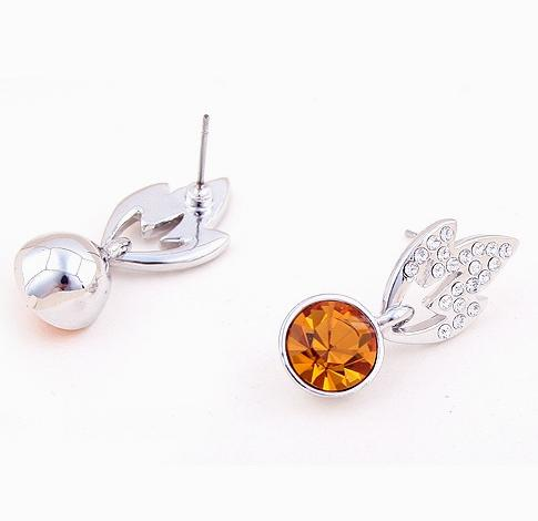 Fashionable Crystal Earrings (Yellow) SR0205Y