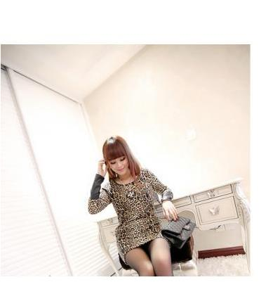 Fashionable Leopard Print Dress