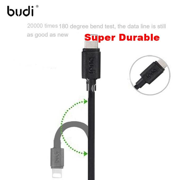 (Fast Charging) budi M8J023 1.2m Durable Cable iPhone XS Max XR 8 7 6S