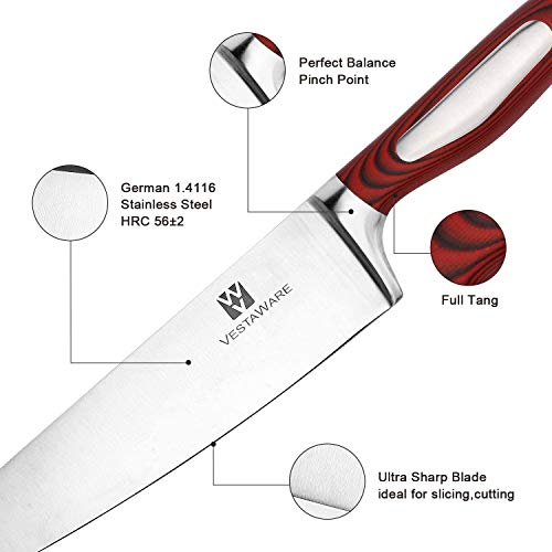 ...Fast Delivery Chef Knife Vestaware Kitchen Knife 8 Inch Chef's Knife - Prof
