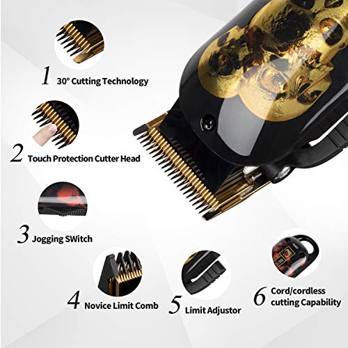 ...Fast Delivery Cordless Hair Trimmer, BESTBOMG Professional Hair Clippers Be