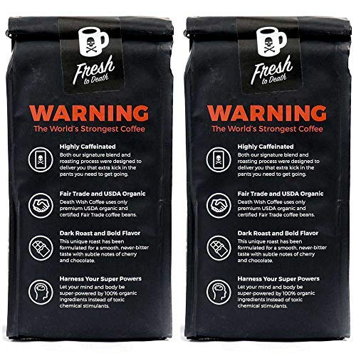 ...Fast Delivery Death Wish Coffee Ground Coffee Bundle Deal, The World's Stro