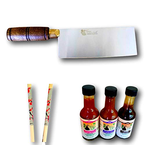 ...Fast Delivery Exclusive Asian-Style Cleaver Chef Knife Gift Set, Asian Sauc