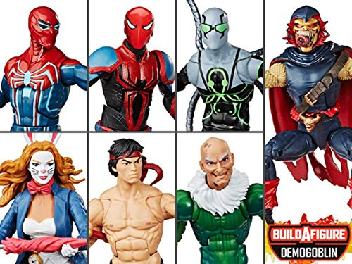 ...Fast Delivery Husbro Spider-Man Marvel Legends: Vulture, White Rabbit, Shan