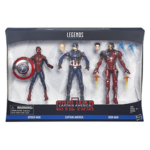 ...Fast Delivery Marvel Legends Captain America: Civil War 6-inch Figure 3-Pac