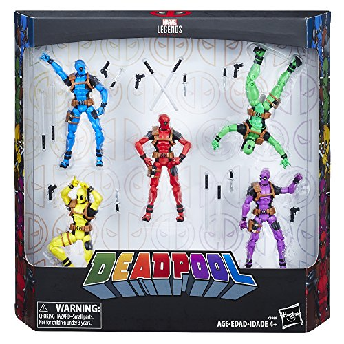 ...Fast Delivery Marvel Legends Deadpool's Rainbow Squad 5-Pack