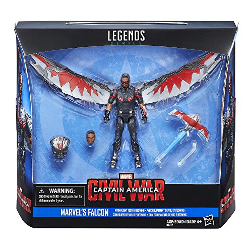 ...Fast Delivery Marvel Legends Series Falcon with Flight Tech and Redwing, 3.