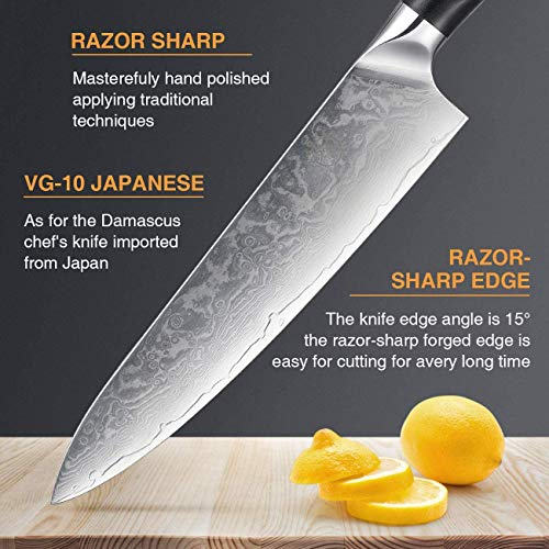 ...Fast Delivery Professional Damascus Chef Knife, 8 inch Kitchen knives Japan