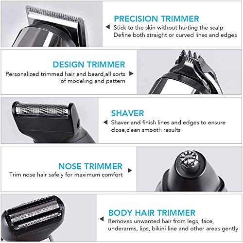 ...Fast Delivery Professional Hair Clippers, MANLI 6 in 1 Cordless Hair Trimme