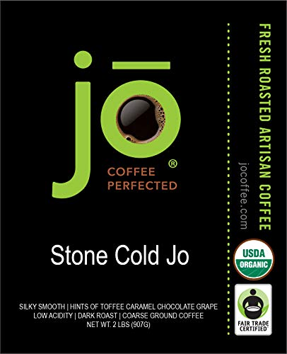 ...Fast Delivery STONE COLD JO: 2 lb, Cold Brew Coffee Blend, Dark Roast, Coar