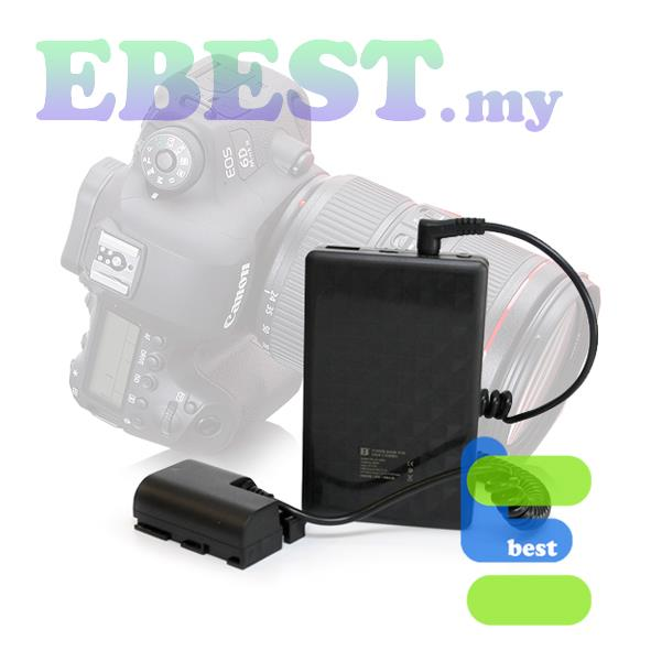 FB XJ-8000 Power Pack with E6 Dummy Battery for for Canon LP-E6 *NW