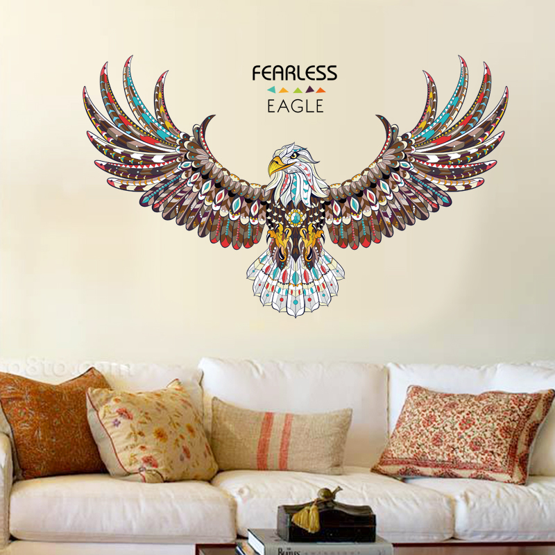 Fearless Eagle Animals Wall Stickers Living Room Bedroom Art Deca