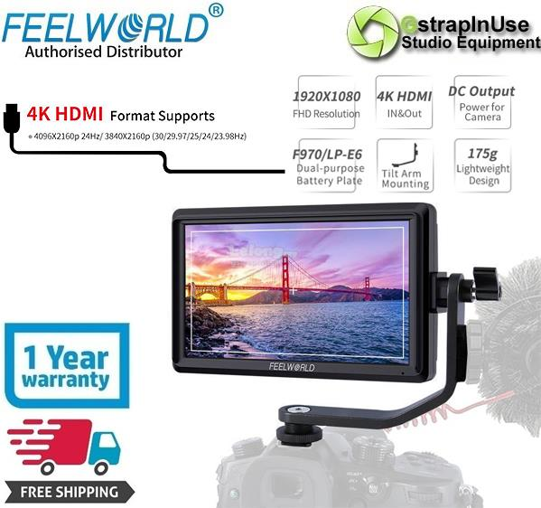 "FEELWORLD FW568 5.5"" 4K DSLR Camera Monitor IPS Full HD 1920x1080"
