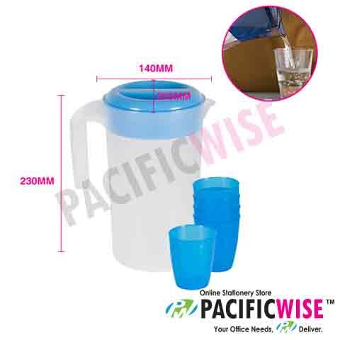 Felton 2.3 L Plastic Jug with 5 pcs cup