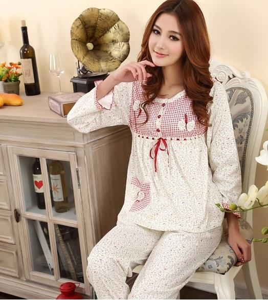 4a86c3e734 Female Cotton Pyjamas Nightwear Slee (end 4 14 2020 7 44 PM)