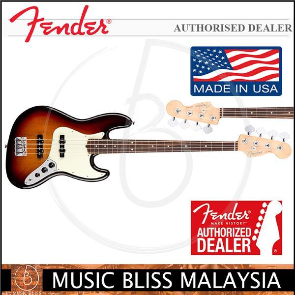 Fender American Professional Jazz Bass Guitar, 3-Tone Sunburst