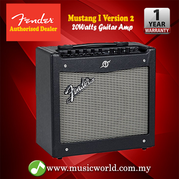 Fender Mustang 1 V2 >> Fender Mustang I V2 1x8 Modeling Electric Guitar Combo Amplifier With