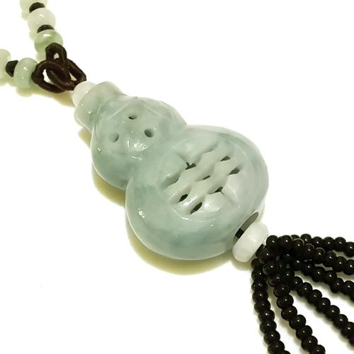 Feng Shui Natural Jade Wu Lou Necklace - Limited Edition