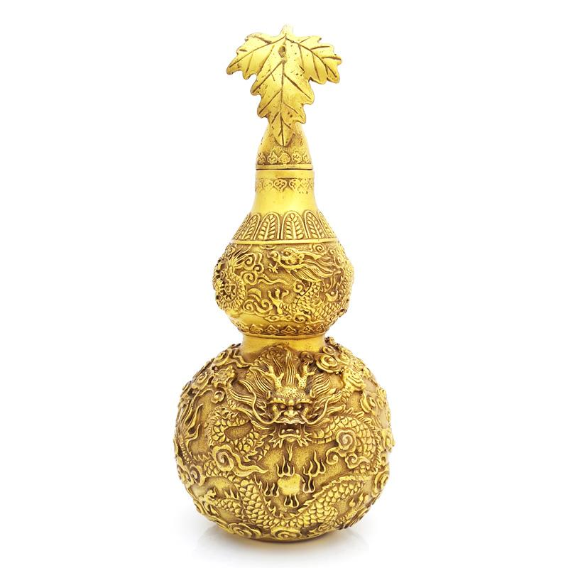 Feng Shui Wu Lou Gourd with Five Dragons for Wealth and Protection